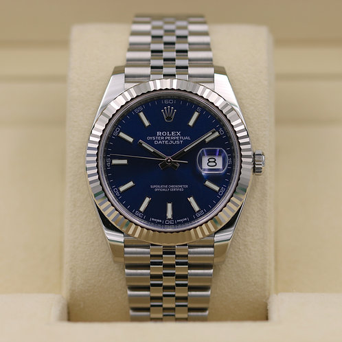 Rolex DateJust 41 126334 Blue Dial - 2017 Box & Papers