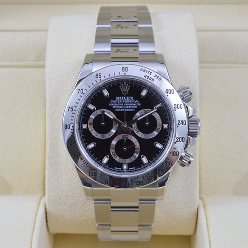 Rolex Daytona 116520 Black Dial - Discontinued - 2016 Box & Papers
