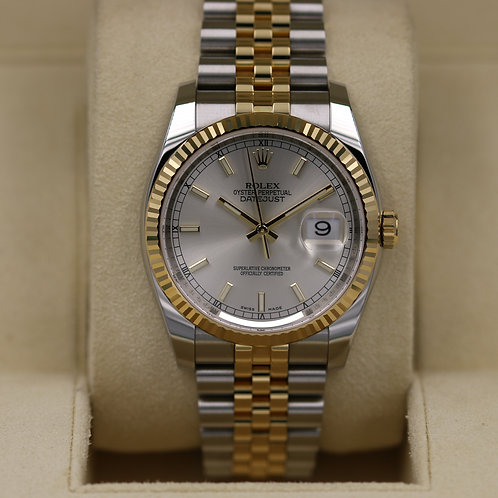Rolex DateJust 116233 Two-Tone Silver Dial 36mm - 2019 Box & Papers