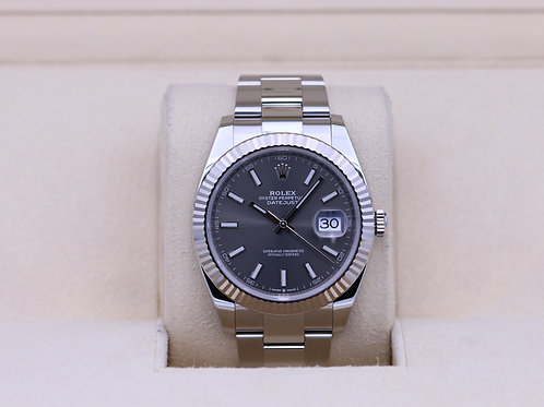 Rolex DateJust 41 126334 Rhodium Dial Oyster - 2019 Box & Papers