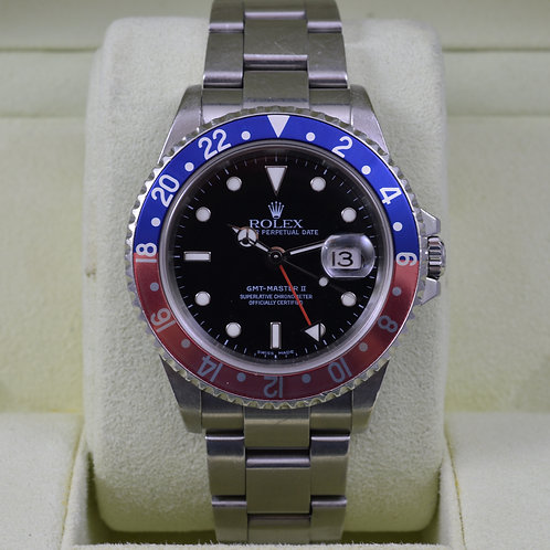 Rolex GMT Master II 16710 - Unpolished & Serviced - Box & Papers