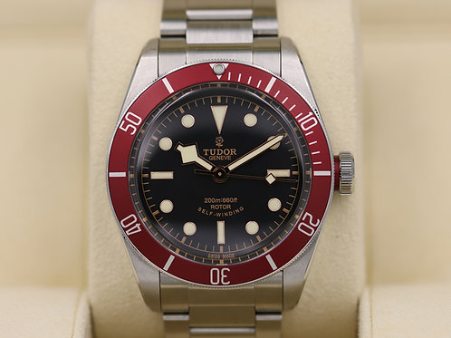Tudor Heritage Black Bay Red 79220R Bracelet ETA Rose Dial - Box & Papers