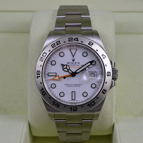 Rolex Explorer II 216570 White Dial 42mm - Box & Papers