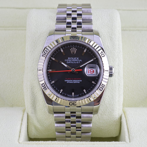 Rolex DateJust Turn-O-Graph 116264 Black Dial Jubilee - Box & Papers 2011