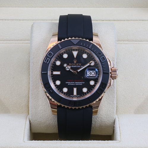Rolex Yacht-Master 116655 Everose Oysterflex - 2016 Box & Papers