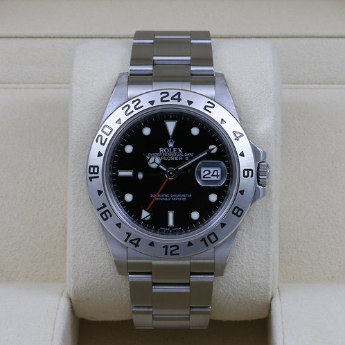 Rolex Explorer II 16570 Black Dial - G Serial 3186 Movement - Box & Papers
