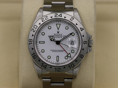"""Rolex Explorer II 16570 White Dial """"Polar"""" A Serial """"Swiss"""" Only  - Box & Papers"""