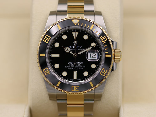 Rolex Submariner 116613 Two Tone Black Dial Ceramic 18K/SS - 2018 Box & Papers
