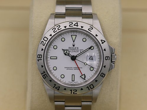 Rolex Explorer II 16570 White Dial 40mm - M Serial 3186 Movement