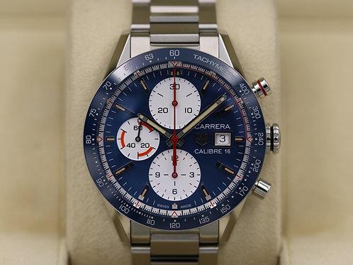 Tag Heuer Carrera Calibre 16 Chronograph Blue CV201AR.BA0715 - 2018 Box & Papers