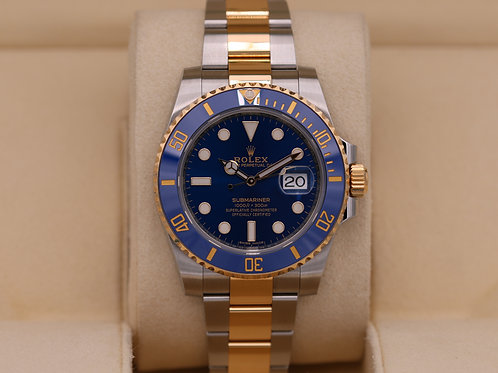 Rolex Submariner 116613 Two Tone Blue Dial - 2018 Box & Papers