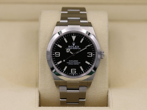 Rolex Explorer I 214270 Full Lume Dial 39mm - 2019 Box & Papers