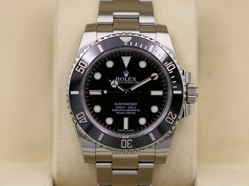 Rolex Submariner No Date 114060 Ceramic Stainless Steel - Box & Papers!