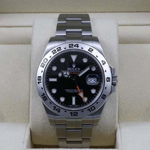 Rolex Explorer II 216570 Black Dial - 2014 Box & Papers