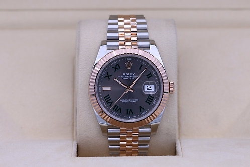 Rolex DateJust 41 126331 Two Tone Rose Jubilee Slate Roman - Box & Papers
