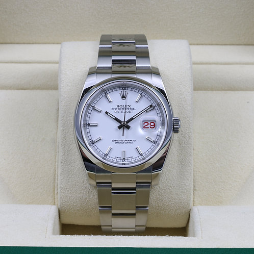 Rolex DateJust 116200 White Dial Stainless - 2017 Box & Papers