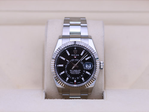 Rolex Sky-Dweller 326934 Stainless Steel Black Dial - Box & Papers