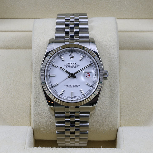 Rolex DateJust 116234 White Dial - Box & Papers