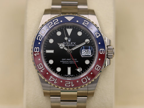 Rolex GMT Master II 116719BLRO Pepsi 18K White Gold - 2016 Box & Papers!