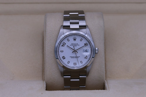 Rolex Date 15200 White Dial 34mm - A Serial - Box & Papers