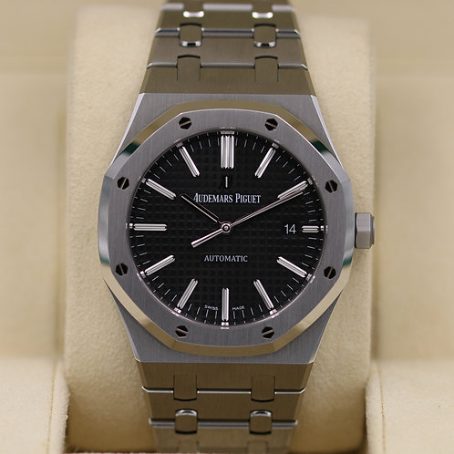Audemars Piguet Royal Oak 15400 Black Dial - Box & Papers
