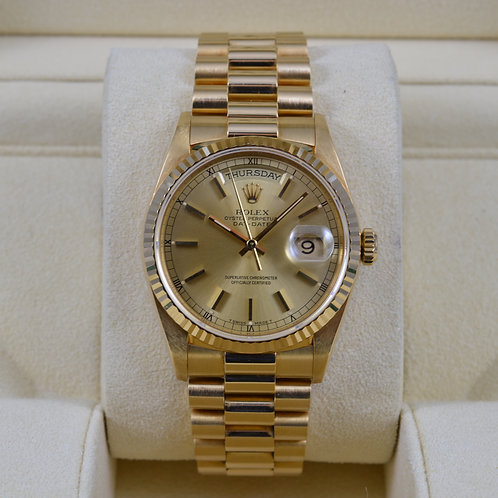 Rolex Day-Date 18238 Double Quickset 18K Gold
