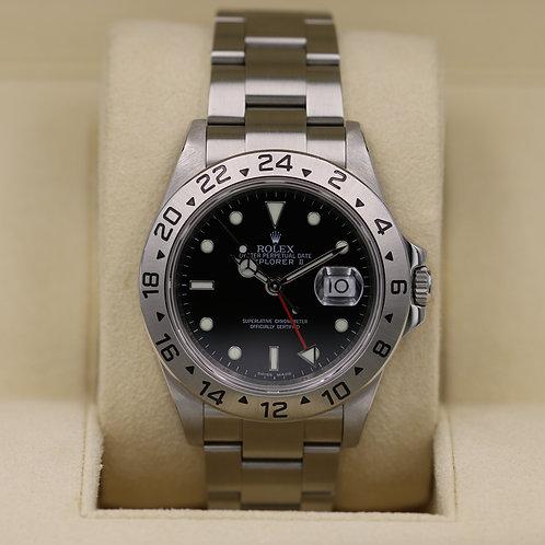 Rolex Explorer II 16570 Black Dial - M Serial 3186 - Box & Papers