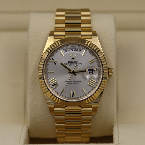 Rolex Day-Date 40 228238 President 40mm Silver Roman Dial - 2016 Box & Papers