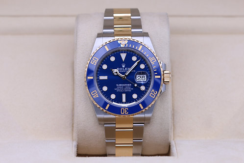 Rolex Submariner 41 126613LB Two Tone Blue Dial - 2020 Unworn