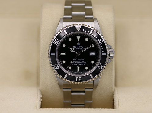 Rolex Sea-Dweller 16600 - F Serial No Holes Case - Box & Papers