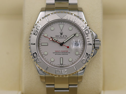 Rolex Yacht-Master 16622 Platinum Stainless 40mm - K Serial - Box & Papers