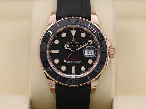 Rolex Yacht-Master 116655 Everose Oysterflex Rose Gold 40mm - 2016 Box & Papers