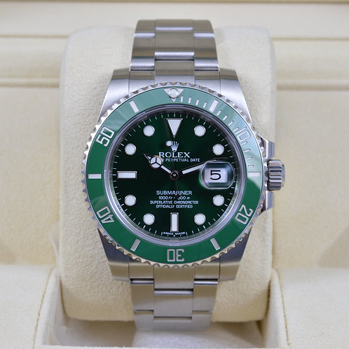"Rolex Submariner 116610LV ""Hulk"" Green Ceramic - 2015 Box & Papers"