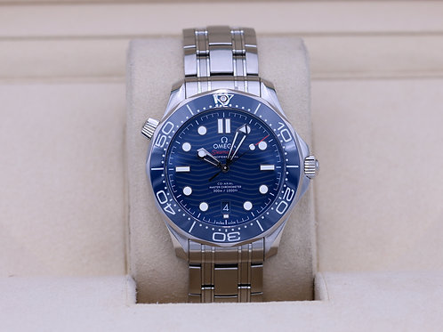 Omega Seamaster 300m Diver Co-Axial Blue Dial 210.30.42.20.03.001