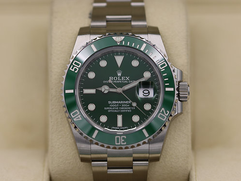 Rolex Submariner 116610LV Green Dial Ceramic Bezel Hulk - 2018 Box & Papers