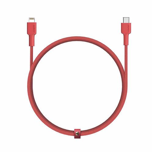 Кабель MFI USB-C на Lightning  Aukey CB-CL1 red длина 1,2m