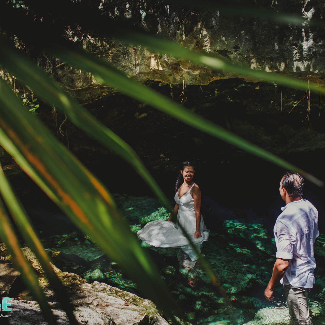 trash the dress cenote mexico