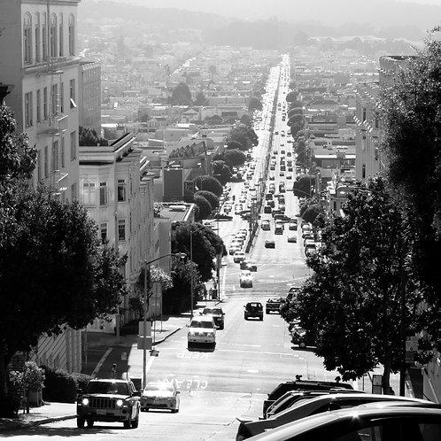 """Tirage """"San Francisco road"""" - Exemplaire unique signé"""