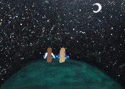 Sisters and the Night Sky