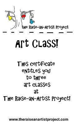Group Art Class Package