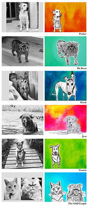 Custom 5 x 7 Pet Portrait
