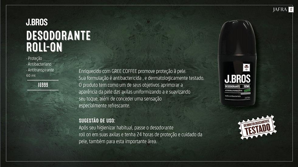 J.Bros – Desodorante Roll-on, 60ml