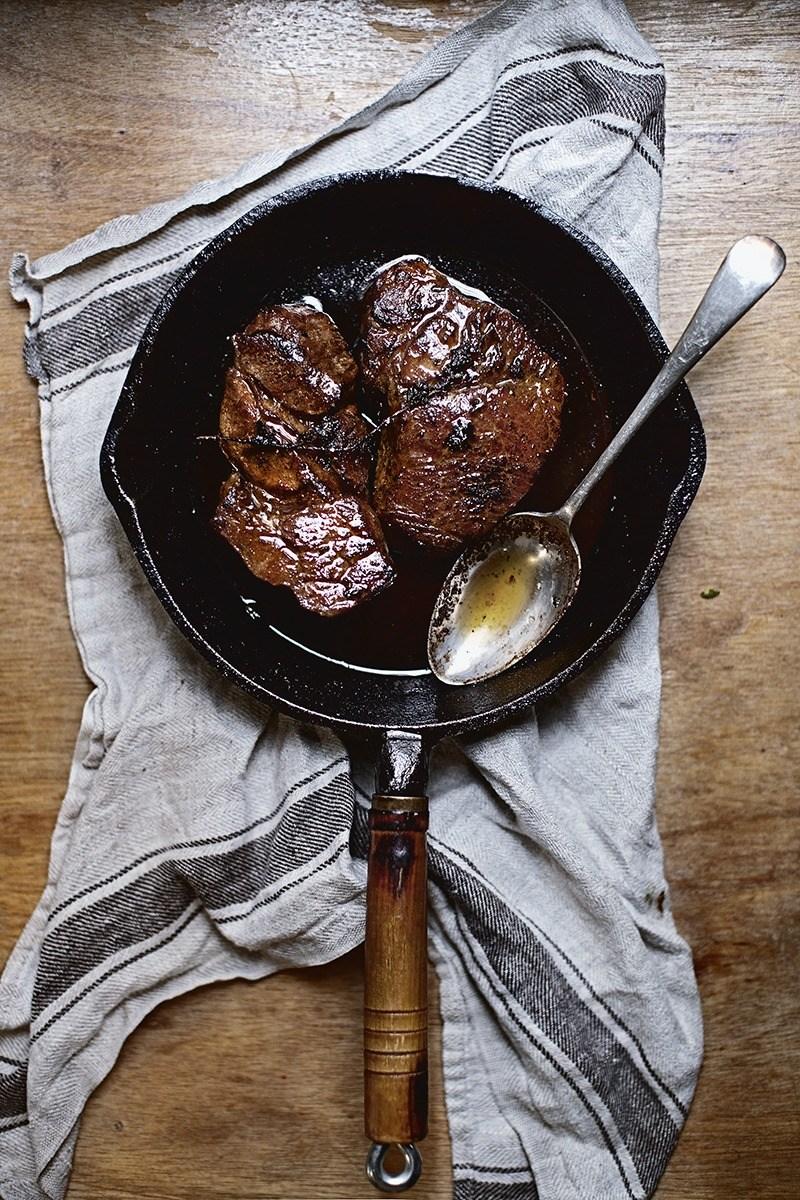 Pork Shoulder Steak Pan fried Cacciatora