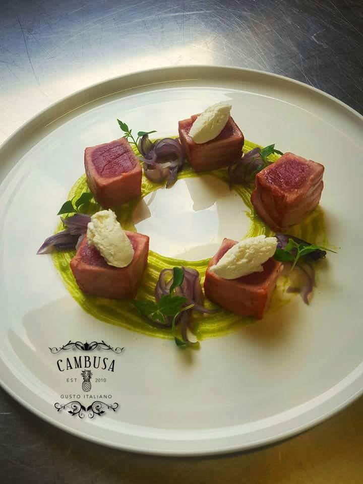 Tuna Seared - Peas Green - Fava Bean