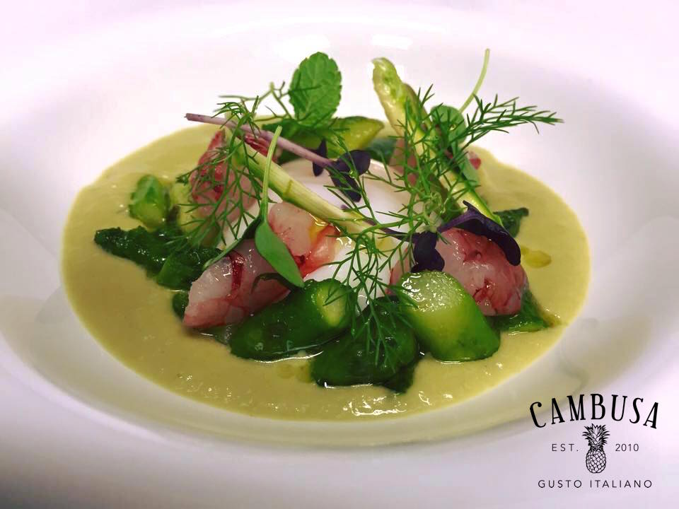 Velvet Green Asparagus Raw Shrimp
