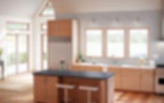 Milgard Trinsic Windows with Kitchen Isl