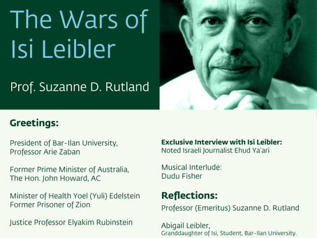 Isi Leibler book launch event