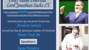 Recording of Erev in Memory of Rabbi Sacks