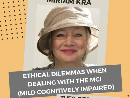 Lecture recording: Ethical Dilemmas when dealing with the MCI