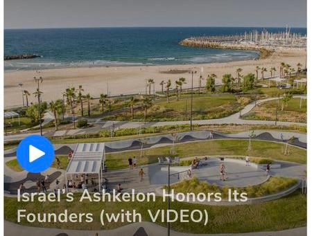 Ashkelon Honors Its  Founders